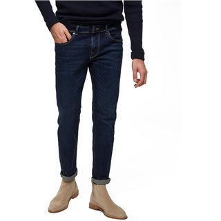 Selected Homme Dark Blue Wash Leon 1003 Slim Jean