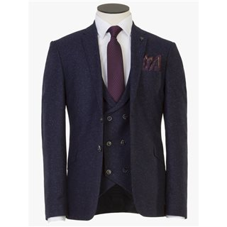 Benetti Navy Bale Tweed Speckle Suit