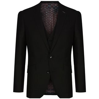 Remus Uomo Black Palucci Tapered 3-Piece Suit