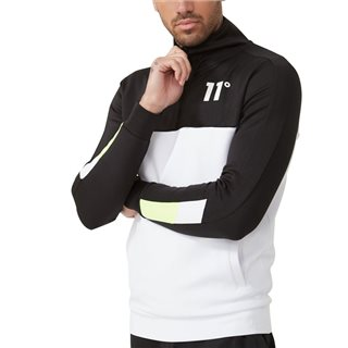 11 Degrees Black/White Neo Poly Track Top