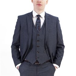 Daniel Grahame Grey Dale 3 Piece Check Suit