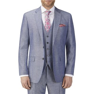 Skopes Carlo Linen Blend Suit Jacket Blue