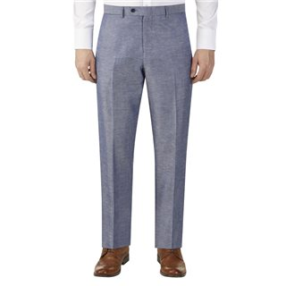 Skopes Carlo Linen Blend Suit Trouser Blue