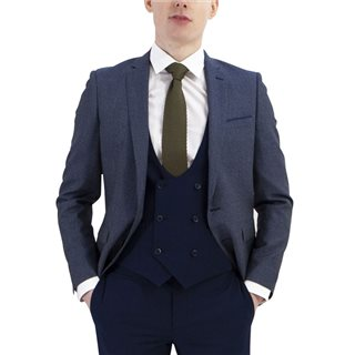 Remus Uomo Suits Navy Laro Slim 3-Piece Suit