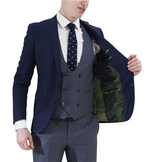 Remus Uomo Suits Navy Laro Slim Fit 3-Piece Suit