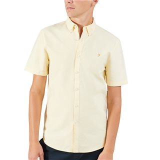Farah Acid Yellow Brewer Short Sleeve Shirt
