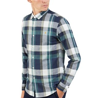 Farah Green Biscuit Talib Check Shirt