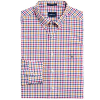 Gant Poseidon Blue Broadcloth Regular Fit 3-Colour Gingham Shirt