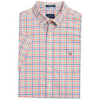 Gant Coral Broadcloth Regular Fit 3-Colour Gingham Short Sleeve Shirt