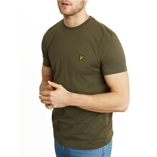 Lyle & Scott Dark Sage Plain Crew Neck T-Shirt