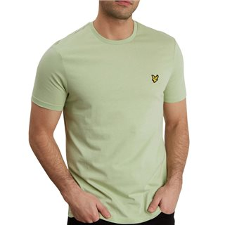 Lyle & Scott Seamfoam Green Plain Crew Neck T-Shirt