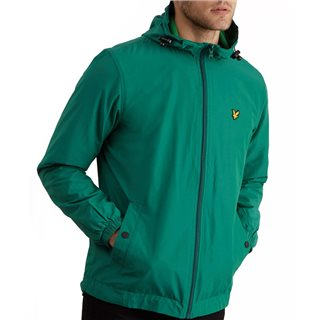 Lyle & Scott Alpine Green Zip Through Hooded Jacket