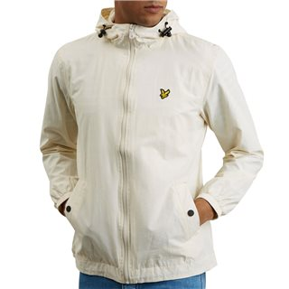 Lyle & Scott Snow White Zip Through Hooded Jacket