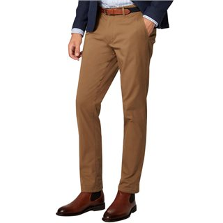 Selected Homme Dark Camel Yard Slim Fit Chinos