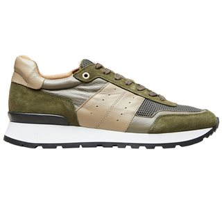 Selected Homme Olive Green Frank Suede Trainer