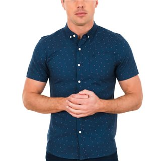 Tommy Bowe XV Kings Blizzard Bridlington Polka Dot Short Sleeve Shirt