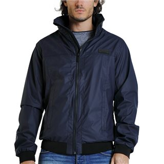 Diesel Navy Drake Coated Jacket