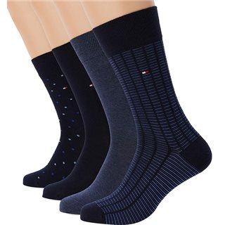 Tommy Accessories Navy Giftbox 4-Pack Socks