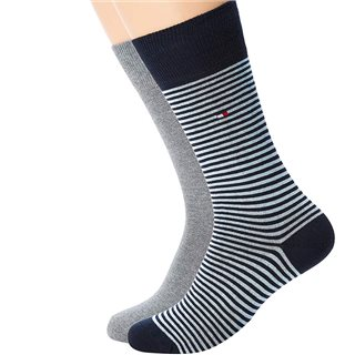 Tommy Accessories Blue Combi Small Stripe 2-Pack Socks