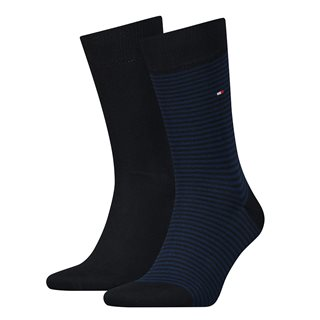 Tommy Accessories Tommy Blue Small Stripe 2-Pack Socks