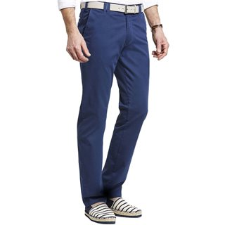 Meyer Blue Pima Cotton New York Chinos