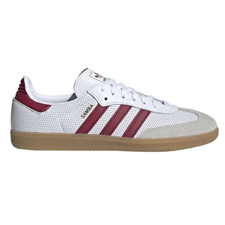 adidas Originals White/Burgundy Samba Og Trainers
