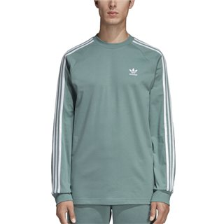 adidas Originals Vapour Steel Long Sleeve 3-Stripes T-Shirt