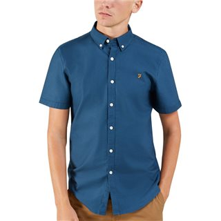 Farah Brewer Short Sleeve Shirt Blue Star