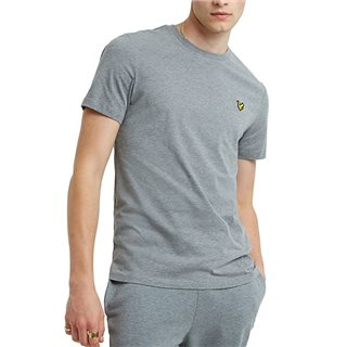 Lyle & Scott Mid Grey Marl Plain Crew Neck T-Shirt