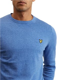 Lyle & Scott Blue Cotton Merino Sweater
