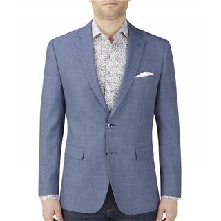 Skopes Birdseye Blue Wade Wool Blend Jacket