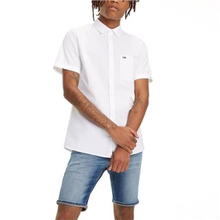 Tommy Jeans White Short Sleeve Pure Cotton Shirt