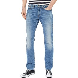 Tommy Jeans Stretch Straight Fit Jeans Elk Mid Blue