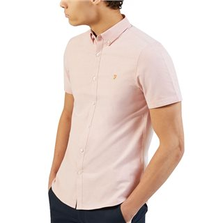 Farah Pink Brewer Short Sleeve Shirt