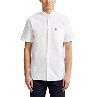 Fred Perry White Classic Short Sleeve Oxford Shirt
