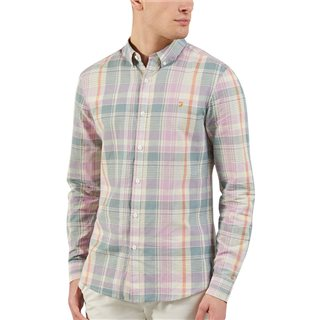 Farah Clay Ku Checked Shirt