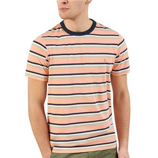 Farah Peach Piper Striped T-Shirt