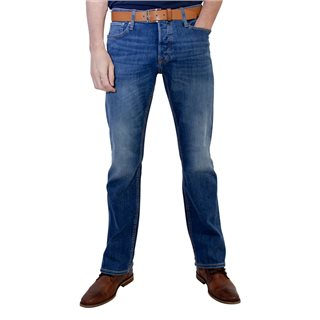 Jack & Jones Intelligence  Blue Denim Jake 780 Bootcut Jean