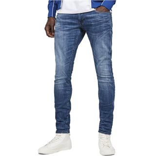 G-Star Medium Indigo Aged 3301 Deconstructed Skinny Jean