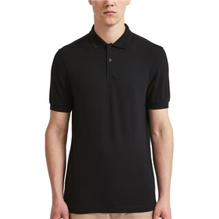 Fred Perry Black M3600 Twin Tipped Polo
