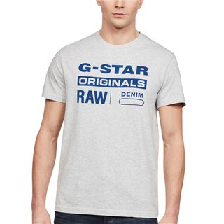 G-Star Light Grey Heather Graphic 8 T-Shirt