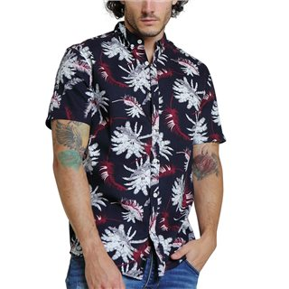 Diesel Navy Darby Print Short Sleeve Shirt