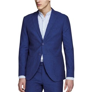 Jack & Jones Premium Dark Navy Julian Linen Blazer