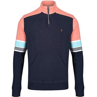 Farah Yale West 1/4 Zip Sweater