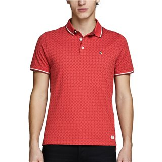 Jack & Jones Premium Ketchup Paulos All-Over Print Polo Shirt