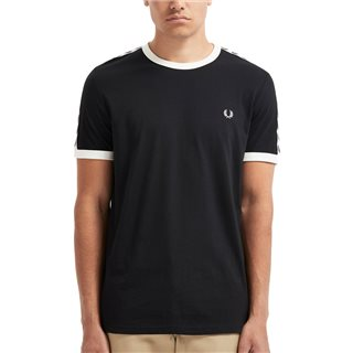 Fred Perry Black Taped Ringer T-Shirt