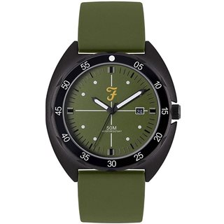 Farah Accessories Olive Sport Silicon Strap Watch