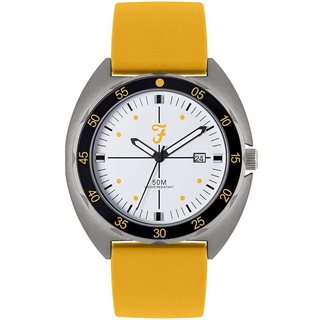 Farah Yellow Sport Silicon Strap Watch