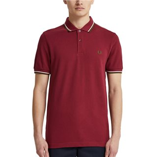 Fred Perry Wine Twin Tipped Polo