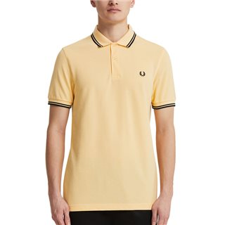 Fred Perry Pale Apricot Twin Tipped Polo